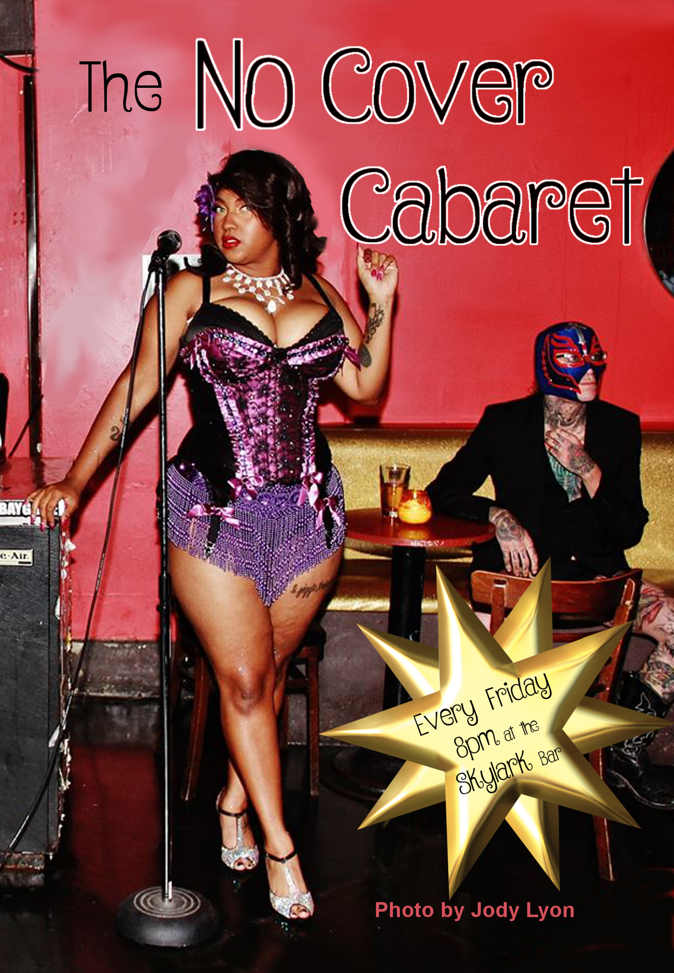 No Cover Cabaret flier Elyse star FINAL